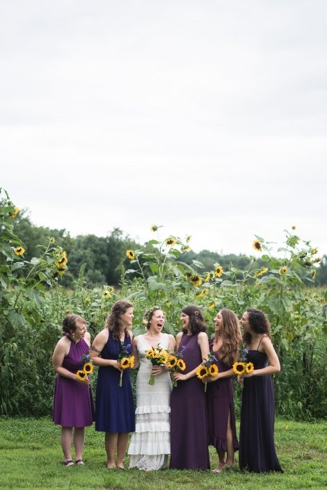 Bridal-Party-Sunflowers