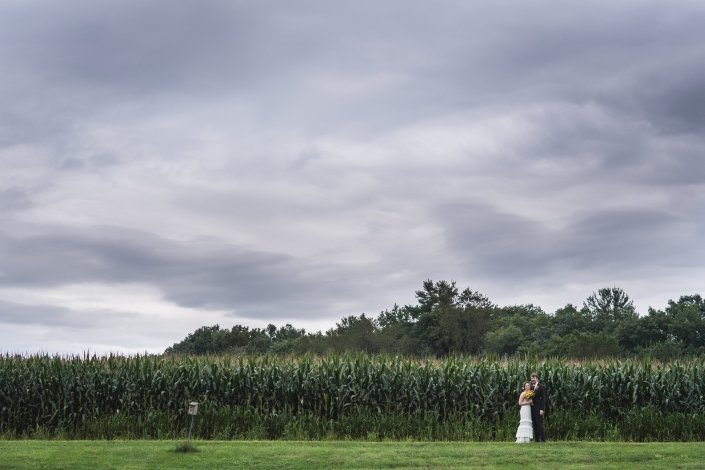 August Cornfield bride and groom