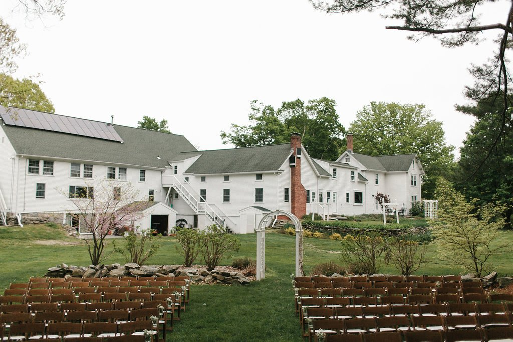 wedding seating and arch