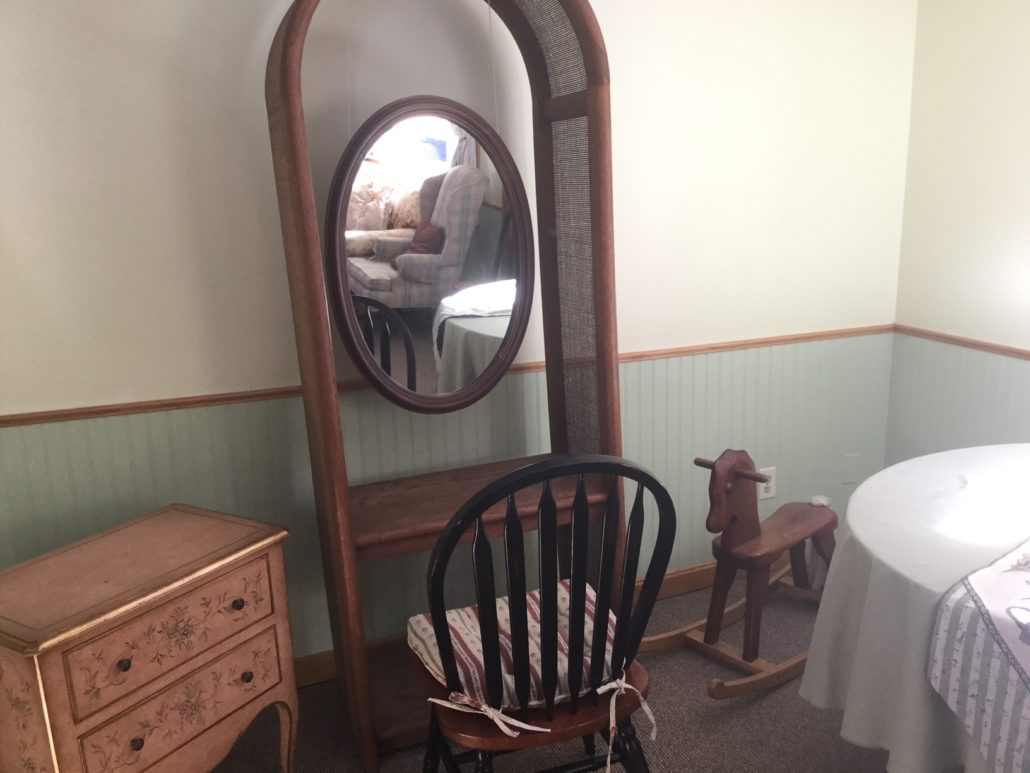 Mirror and chair Retreats in Central MA
