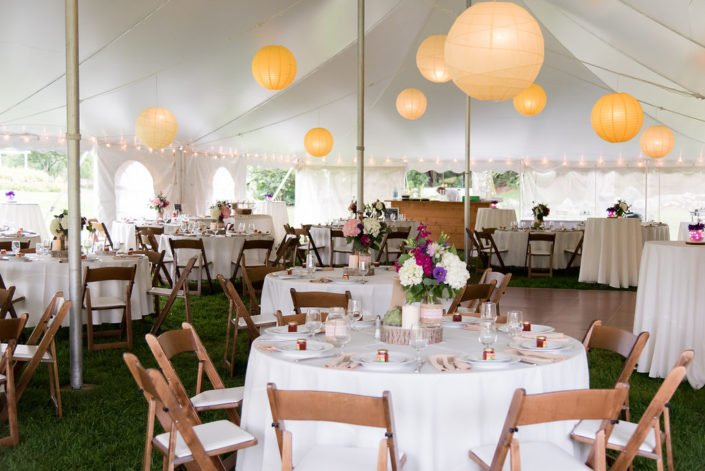 Gorgeous tented Wedding Reception in Harvard Mass